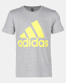 adidas Originals Boys MH Boys Tee Grey