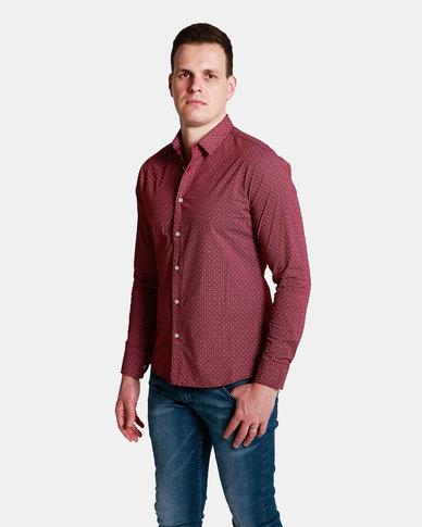 Emme Jeans Crosses Shirt Burgundy