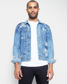 Utopia Blue Denim Trucker Jacket