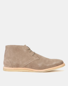 Frank Wright Baxter Taupe Suede Boots