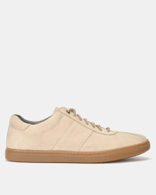 Frank Wright Vikings Nubuck Casual Lace Up Shoes Ecru