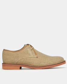 Frank Wright Evans Sand Canvas Casual Lace Up Shoes