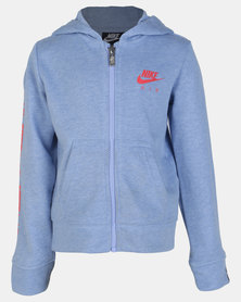 Nike Girls Air Full Zip Aluminium Heather