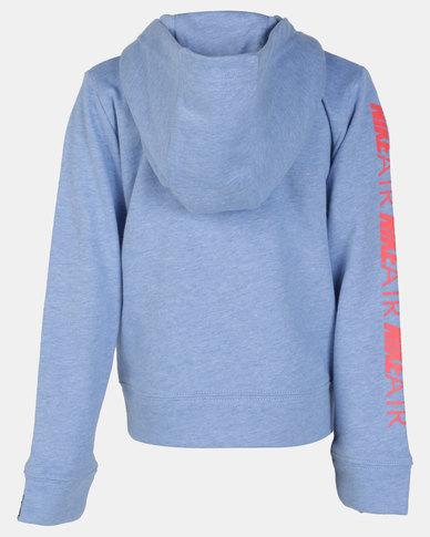 Nike Girls Air Full Zip Aluminium Heather