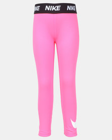 Nike Girls Sport Racer Essential Printed Leggings Pink