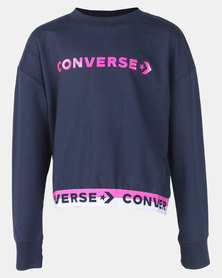 Converse Wordmark Cropped PO Crew Obsidian