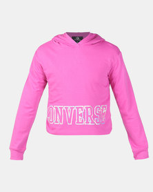 Converse Cropped DK Active Hoodie Fuchsia