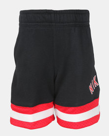 Nike Boys Air French Terry Shorts Black/Red