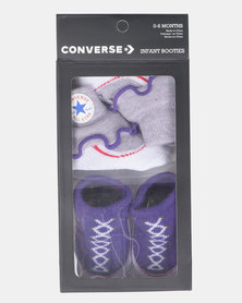Converse Frilly Chuck 2PK Purple Chalk Heather Socks