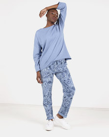 UB Creative Paisley Tracksuit Set Blue