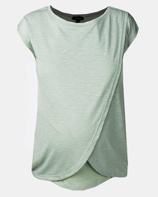 New Look Maternity Mint Green Wrap Front Nursing T-Shirt