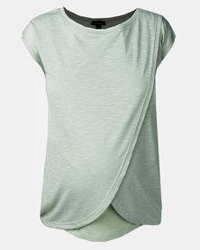 New Look Maternity Mint Green Wrap Front Nursing T-Shirt