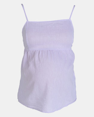 New Look Maternity Lilac Linen Blend Tie Back Cami