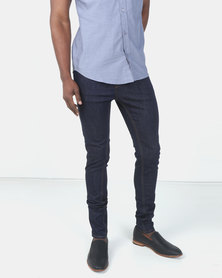 New Look Mens Super Skinny Jeans Navy