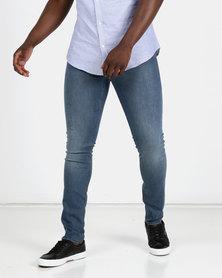 New Look Mens Benson Super Skinny Jeans Blue