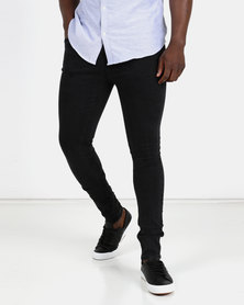 New Look Mens Flat Washed Jeans Black