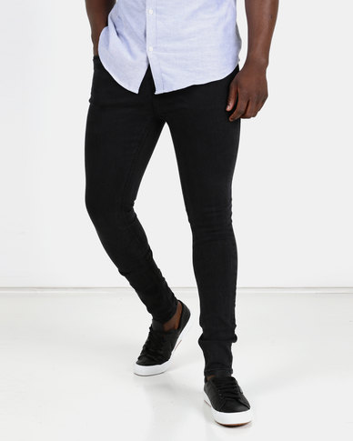 cheap sale good looking special buy New Look Mens Flat Washed Jeans Black