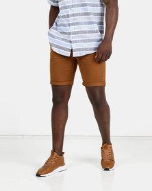 New Look Mens Chino Shorts Light Mid Brown