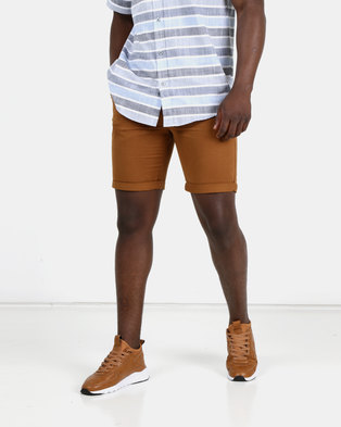 New Look Mens Chino Shorts Light Mid Brown