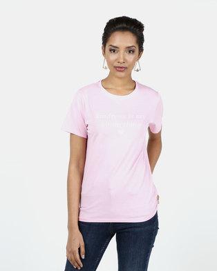 New Look Kindness Is My Kinda Thing Slogan T-Shirt Pink