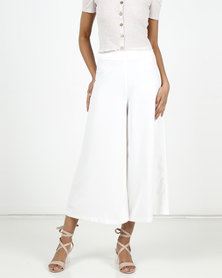 New Look Wide Leg Crop Trousers Cream
