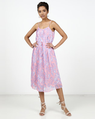 New Look Floral Print Cami Midi Dress Pink