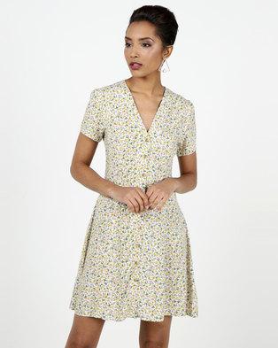 New Look Floral Print Tea Dress White