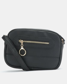 New Look Ring Zip Pocket Utility Camera Bag Black