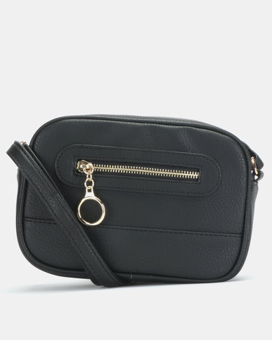 New Look Ring Zip Pocket Utility Camera Bag Black