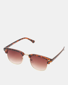 New Look Classic Style Sunglasses Dark Brown
