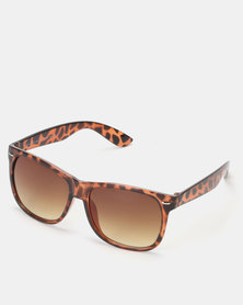 New Look Faux Tortoiseshell Sunglasses Dark Brown