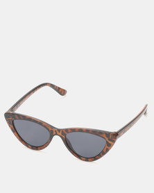 New Look Cat Eye Sunglasses Dark Brown