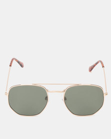 New Look Hexagon Pilot Sunglasses Gold