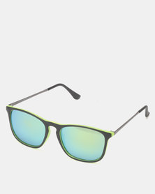 New Look neon Mirrored Keyhole Sunglasses Yellow