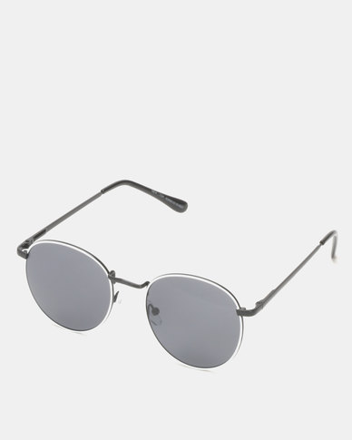 New Look Tinted Metal Round Sunglasses White