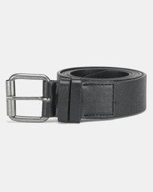 New Look Double Keeper Textured Belt Black