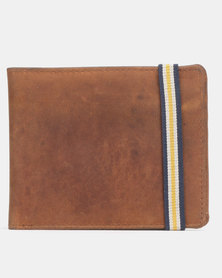 New Look Leather Stripe Strap Wallet Tan