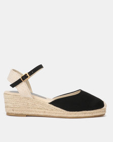 New Look Suedette Mid Wedge Espadrilles Black