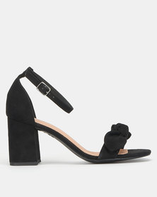 New Look Comfort Flex Bow Strap Block Heels Black