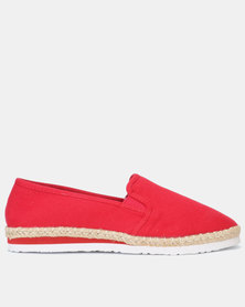 New Look Canvas Slip On Espadrilles Bright Red