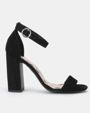 New Look Animal Print Insole Block Heel Sandals Black