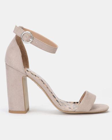 the latest reasonable price latest design New Look Animal Print Insole Block Heel Sandals Mid Grey