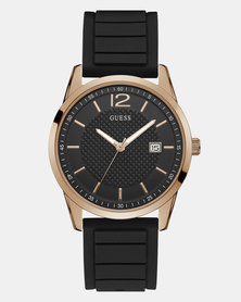 Guess Perry Rose Gold Watch Black