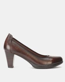 Pierre Cardin Elastic Top-line PU Court Shoe Brown