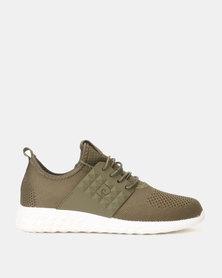 Pierre Cardin Sporty Knit Sneaker Khaki