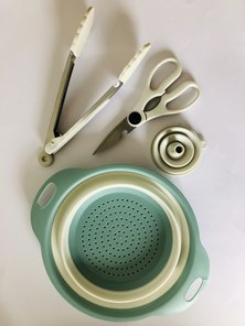 A Thousand Things Silicone Kitchen Set Grey