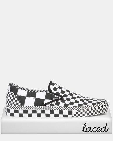 e941c858 Vans UA Classic Slip-On (All Over Checkerboard) Black/True White Sneaker