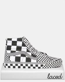 Vans UA SK8-Hi (All Over Checkerboard) Black/True White Sneaker