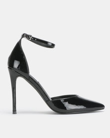 Steve Madden Mikaela Dress Heels Black Patent