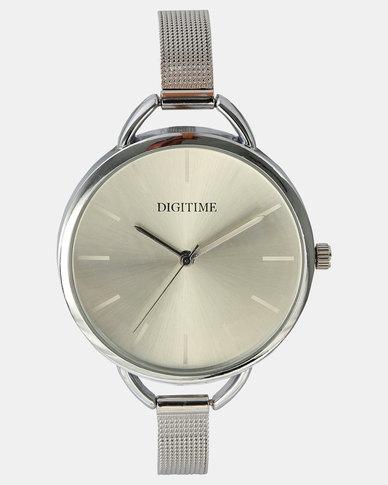 Digitime Chiffon Watch Silver-tone